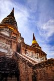 Wat yai chaimongkol world heritage site of unesco and one of most popular traveling destination in ayutthaya thailand royalty free stock photos