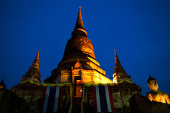 Wat Yai Chaimongkon Stockfoto