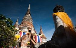 Wat Yai Chimongkol en Ayutthaya Imagen de archivo