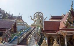 wat yai phra Wat Phra Yai, известный в английском как большой висок Будды, буддийский висок на Ko Phan Стоковая Фотография RF