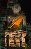 Wat Yaichaimongkol en Ayutthaya Imagenes de archivo