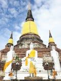 Wat Yaichaimongkol. Old temple in ayutthaya thailand Stock Image