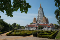 Wat Yan Śpiewał Wararam Woramahawihan świątynię, Tajlandia Obrazy Stock