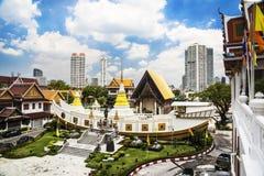 Wat Yan Nawa, łódź kształtował świątynię, Bangkok, Tajlandia obraz stock