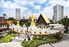 Wat Yan Nawa, łódź kształtował świątynię, Bangkok, Tajlandia zdjęcia royalty free
