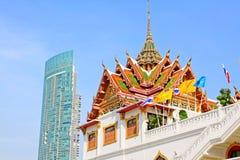 Wat Yan Nawa Bangkok, Thailand Arkivfoto