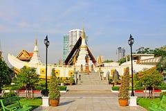 Wat Yan Nawa Bangkok, Thailand Arkivbilder