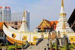 Wat Yan Nawa Bangkok, Thailand royaltyfria foton