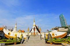 Wat Yan Nawa Bangkok, Thailand arkivfoton