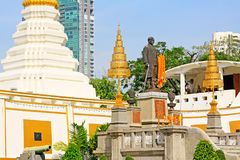 Wat Yan Nawa, Bangkok, Thailand. Wat Yannawa is an old Buddhist temple dating back to the Ayutthaya period, located in the Sathon district of Bangkok on Charoen Stock Image