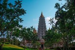 Wat Yan Sang Wararam Är en av den mest berömda templet nära Pattaya arkivbild