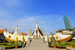 Wat Yan Nawa, Bangkok, Thailand. Wat Yannawa is an old Buddhist temple dating back to the Ayutthaya period, located in the Sathon district of Bangkok on Charoen Stock Photos
