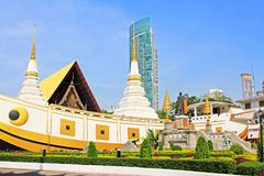 Wat Yan Nawa, Bangkok, Thailand. Wat Yannawa is an old Buddhist temple dating back to the Ayutthaya period, located in the Sathon district of Bangkok on Charoen Stock Photo