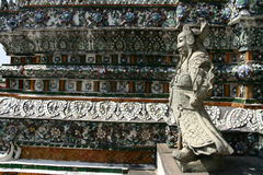 Wata Arun świątyni szczegóły w Bangkok Fotografia Royalty Free