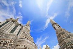 Wata arun świątynia świt, przychodzi odwiedzony dokąd są Tajlandia przyciągania dla najwięcej podróżnika zdjęcie stock