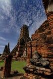 Wata Chaiwatthana baran, Ayutthaya Dziejowy park, Tajlandia Obrazy Royalty Free