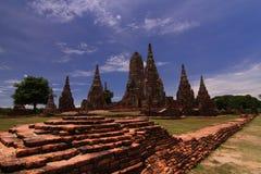 Wata Chaiwatthana baran, Ayutthaya Dziejowy Parkowy Tajlandia Fotografia Stock