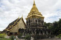 Wata Chiang mężczyzna budował w 1297 jako Chiang Mai ` s pierwszy świątynia dalej Obrazy Stock
