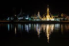 Wata Jong Kham i Wata Jong Klang świątynie Obrazy Royalty Free