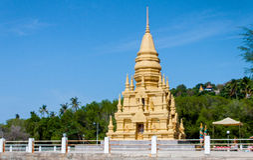 Wata Laem Pagodowy Sor, Koh Samui, Tajlandia Fotografia Royalty Free