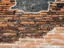 Wata Mahatat Ścienny antyczny budynek i dziejowy miejsce Fotografia Royalty Free