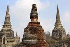 Wata Mahathad Tajlandia buddhism Antyczna świątynia zdjęcie royalty free
