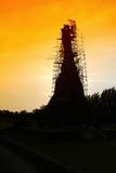 Wata mahathat świątynia Ayutthaya. Zdjęcia Royalty Free
