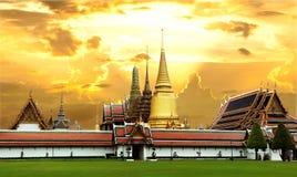 Wata Phra Kaew Uroczysty pałac Bangkok Fotografia Royalty Free