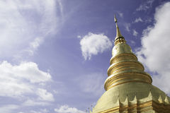 Wata phra który hariphunchai obrazy royalty free
