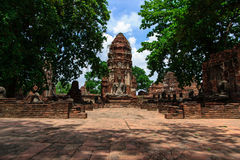 Wata Phra Mahathat świątynia Obrazy Royalty Free
