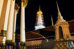 Wata Phra Mahathat Woramahawihan Nakhon Si Thammarat Znacząco miejsca buddyzmu punkt zwrotny obrazy royalty free