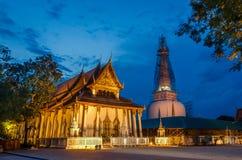 Wata Phra Mahathat Woramahawihan Nakhon Si Thammarat Znacząco miejsca buddyzmu punkt zwrotny zdjęcie royalty free