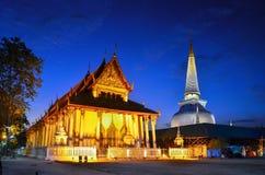 Wata Phra Mahathat Woramahawihan Nakhon Si Thammarat Znacząco miejsca buddyzmu punkt zwrotny zdjęcia royalty free