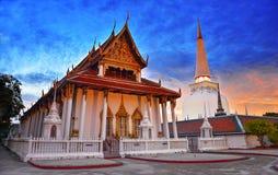 Wata Phra Mahathat Woramahawihan Nakhon Si Thammarat Znacząco miejsca buddyzmu punkt zwrotny fotografia stock