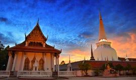 Wata Phra Mahathat Woramahawihan Nakhon Si Thammarat Znacząco miejsca buddyzmu punkt zwrotny obrazy stock