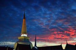 Wata Phra Mahathat Woramahawihan Nakhon Si Thammarat Znacząco miejsca buddyzmu punkt zwrotny obraz royalty free