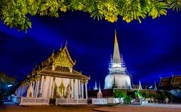 Wata Phra Mahathat Woramahawihan Nakhon Si Thammarat Znacząco miejsca buddyzmu punkt zwrotny zdjęcia stock