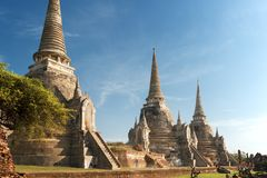 Wata Phra Sri Sanphet świątynia, Ayutthaya Fotografia Royalty Free