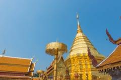 Wata Phrathat Doi Suthep świątynia w Chiang Mai, Tajlandia Zdjęcia Royalty Free