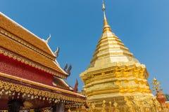 Wata Phrathat Doi Suthep świątynia w Chiang Mai, Tajlandia Zdjęcie Royalty Free