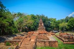 Wata Pu Pia, jeden rujnować świątynie wewnątrz (świątynia starego człowieka Pia) obraz stock