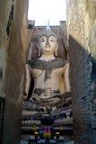 Wata Sri kmotr Buddha w Sukhothai Dziejowym narodzie Zdjęcie Stock