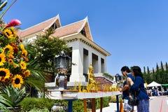 8-26-18 Wata Tajlandzki brzeg rzeki, Ca fotografia royalty free
