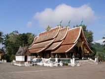 Wata Xieng pasek w Luang Prabang, Laos Zdjęcie Royalty Free