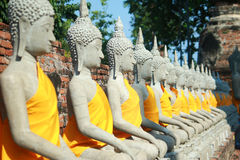 Wata Yai Chai Mongkhon świątynia w Ayutthaya, Tajlandia Obrazy Royalty Free