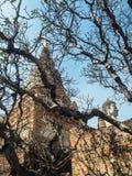 Wata Yai Chaimongkol świątynia w Ayutthaya Fotografia Stock