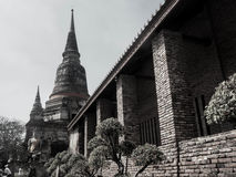 Wata Yai Chaimongkol świątynia w Ayutthaya Zdjęcia Royalty Free