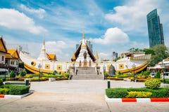 Wata Yan Nawa świątynia w Bangkok, Tajlandia obraz royalty free