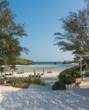 Watamu白色沙子海滩seaview 免版税图库摄影
