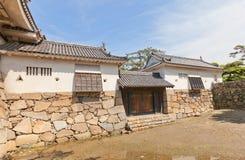 Watariyagura塔楼和Mizutegomon门(1676)高松cas 免版税库存照片